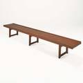 Torbjorn afdal bruksbo long teak bench sweden 1960s manufacturers label 13 12 x 98 34 x 14 12