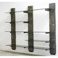 Paul evans directional sculptured metal wall unit usa 1968 bronze composite glass enameled wood inscribed pe68 78 12 x 96 x 17 12