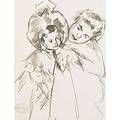 Mary cassatt american 18441926 untitled mother and child charcoal on paper framed estate stamp from the collection of mathilde x 7 58 x 5 58 sight provenance private collection ne