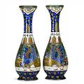 Zuidholland gouda pair of tall vases with large birds gouda netherlands both signed zuidholland gouda 270505 ss 16 12 x 5 34
