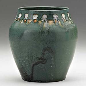 Rhead santa barbara vase in matte green glaze santa barbara ca ca 1915 stamped rhead pottery santa barbara 5 14 x 4 12