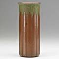 Walter jennings roycroft rare hammered copper vase with italian polychrome east aurora ny 19101915 orb and cross mark 7 12 x 3 12