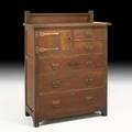 Roycroft rare chestnut chiffonier east aurora ny ca 1907 carved roycroft 55 12 x 42 x 20 published pam mcclary grand tour of the forbes roycroft collection arts  crafts messenger fa