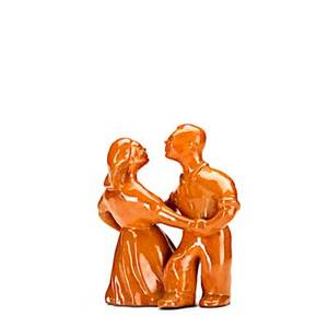 Mary scheier glazed redware figure of square dancing couple signed mary scheier 5 14 x 5 14 x 3 publication forster alternative american ceramics p64