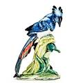 Stangl glazed porcelain figure of a magpie jay marked stangl pottery birds  3758  360 10 34 x 7 12 x 5