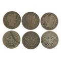 Us 50 cent pieces seventysix pieces 20 barber including 1892s 2 1910s and 56 franklin