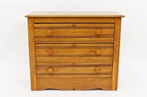 Late 19thE 20th C American Softwood Chest