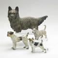 Vienna bronze terriers four early 20th c largest 5 14 x 8
