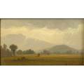 Benjamin champney american 18171907 oil on board of a mountainous landscape framed signed 5 x 8 12