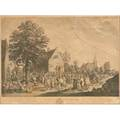 David teniers flemish 15821649 five engravings 4eme fete flamande along with three other period engravings all framed largest 20 x 27 sheet