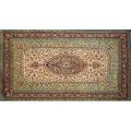Ghoum oriental rug allover floral design on cream ground 20th c 63 x 99