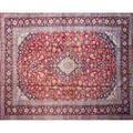Sarouk oriental rug handtied with allover floral design on red ground 20th c 128 x 171