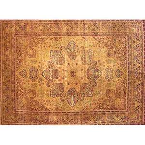 Laver kirman oriental rug allover floral design on cream ground early 20th c 106 x 143