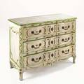 Louis xv style painted commode three drawer 20th c 34 x 46 x 20 34