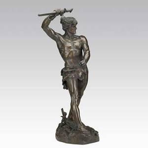 Henri gauquie french 18581927 bronze sculpture vae victis signed 30 12 x 15 x 12