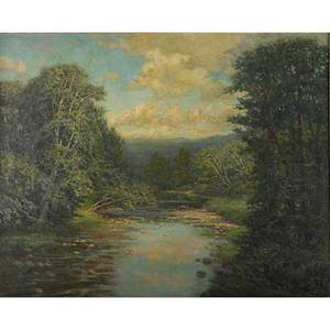Robert ward van boskerck american 18551932 oil on canvas river at keene valley new york framed signed 32 x 40