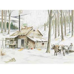 George a bradshaw american 18801968 watercolor on paper of a winter scene framed signed 10 x 13 sight