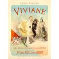 Jules chret french 18361932 lithograph in colors poster viviane framed printed by chaix paris 31 12 x 23 34