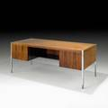 Richard schultz executive desk usa 1960s rosewood chromed steel unmarked 29 x 72 x 32