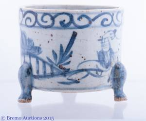 Ming Dynasty Style Blue and White Incense Burner
