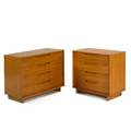 Edward wormley drexel two fourdrawer chests usa 1950s elm branded larger 29 x 39 12 x 18 12