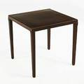 Khouri guzman bunce emile occasional table usa 2000s leather over wood unmarked 19 34 x 20 12 sq
