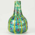 Elio raffaeli glass vase after ercole baroviers saturnei pattern italy c2000 engraved signature 10 x 6 12 dia