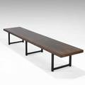 Milo baughman thayer coggin coffee table usa 1950s brazilian rosewood lacquered wood remnants of label 15 12 x 96 x 20