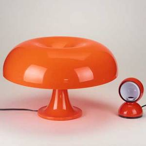 Giancarlo mattioli vico magistretti artemide nesso table lamp and eclisse desk lamp italy c2005 molded plastic enameled metal both marked tallest approx 14 x 22 dia