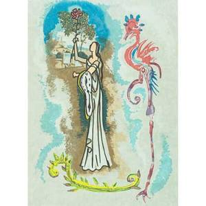 After salvador dali spanish 19041989 lithograph in colors rowena framed signed and numbered 26 x 18 sight
