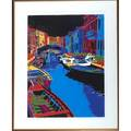 Le landais 20th c two lithographs in color of venetian views 1986 similarly framed signed dated and numbered 32 34 x 25 sight