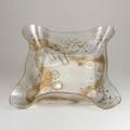 Zahara schatz centerpiece bowl c1950 molded plexiglass and cased metallic particles unmarked 4 12 x 21 x 16
