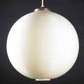 Heifetz rotoflex hanging pendant lamp usa 1950s ribbed and molded plastic brass cap unmarked shade 20 x 18