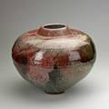 Alan bennett large stoneware vessel with rats in oxblood and mottled olive 1980 signed and dated 12 34 x 16 dia
