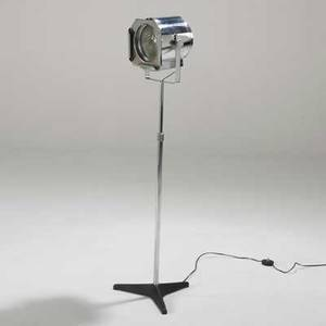Raak adjustable floor lamp netherlands 1970s chromed steel and glass unmarked as pictured 48 x 14 dia