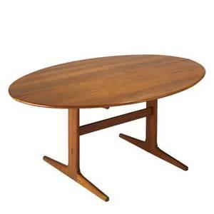 Georg petersens teak dropleaf dining table denmark 1960s labeled 28 x 65 x 43