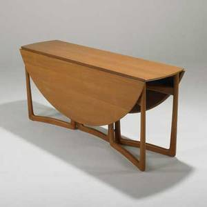 Peter hvidt and orla molgaardnielsen france and son dropleaf dining table denmark 1960s teak and brass unmarked closed 28 x 64 x 18
