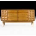 Edmund spence cabinet sweden 1950s birch brass retailers fabric label 36 x 70 x 19 12