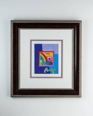 Sailboat with Heart by Peter Max