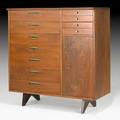 George nakashima widdicomb origins gentlemans cabinet no 214 usa 1950s walnut burled elm brass widdicomb fabric label 49 12 x 47 x 22