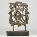 Bernard brenner 19272004 sculpture mandala mohnton pa 1970s patinated and welded reclaimed steel elements wood base unsigned 20 34 x 13 x 3 12 provenance estate of the artist let