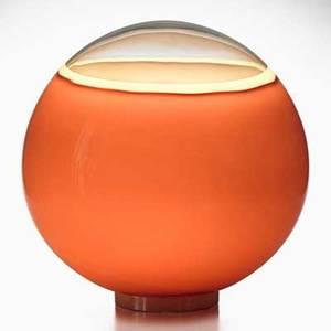 Alfredo barbini spherical table lamp murano italy 1970s glass metal single socket unmarked 17 dia x 17 dia