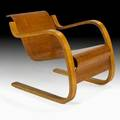 Alvar aalto artek cantilevered armchair finland 1930s laminated birch remnants of export label 24 x 24 x 30 12