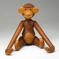 Kay bojesen tall teak monkey denmark 1950s branded kay bojesendenmarkcopyright 17 12 x 18 12 x 4 12