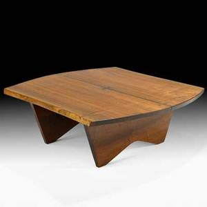 George nakashima nakashima studios special coffee table new hope pa 1957 walnut rosewood brass label 16 x 44 x 44 12 provenance private collection pennsylvania copy of original receip