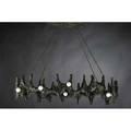 Paul evans paul evans studio custom sculptured metal chandelier usa 1970s bronze composite steel unmarked to canopy 35 x 47 x 26