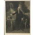 George washington framed print together with three victorian frames 19th c print 29 x 22 sight