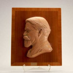 Paul manship american 18851966 terracotta plaque of sir douglas alexander mounted to laminated wood signed paul manship 1944 bust 13 x 9 x 2