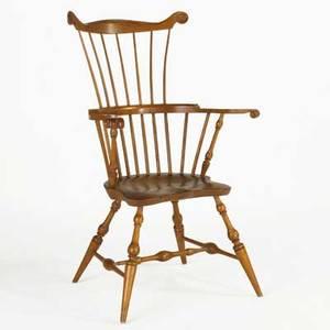 Combback windsor armchair mixed woods ca 1800 43 12 x 28 x 24