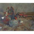 Still life oil on canvas signed clayton 1934 in a phillip n yates frame 20 x 24